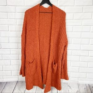 Boutique unbranded open front cardigan sweater L